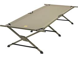 "Slumberjack Tough Cot 32"" x 82"" x 19"" Steel Frame Polyester Top Tan"