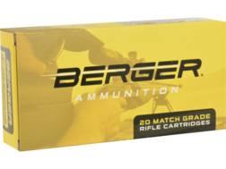 Berger Match Grade Ammunition 260 Remington 140 Grain Hybrid Target Box of 20
