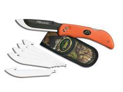 "Outdoor Edge Razor-Lite Folding Hunting Knife 3-1/2"" Replaceable Stainless Steel Blade Kraton Handle"
