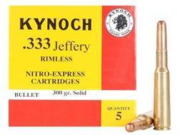Kynoch Ammunition 333 Jeffery Rimless 300 Grain Woodleigh Weldcore Solid Box of 5