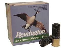 "Remington Sportsman Hi-Speed Ammunition 12 Gauge 2-3/4"" 1-1/8 oz #4 Non-Toxic Steel Shot"