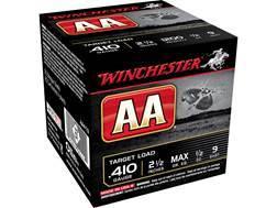 "Winchester AA Target Ammunition 410 Bore 2-1/2"" 1/2 oz #9 Shot"