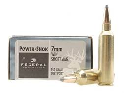 Federal Power-Shok Ammunition 7mm Winchester Short Magnum (WSM) 150 Grain Soft Point Box of 20