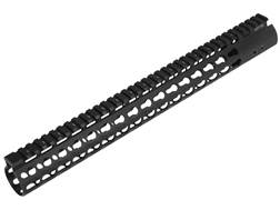 UTG Pro Super Slim KeyMod Free Float Extended Rifle Length Handguard AR-15 Aluminum Black 15""