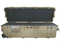 "Pelican 1740 Scoped Rifle Case with Solid Foam Insert and Wheels 44"" Polymer Desert Tan"