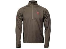 Badlands Men's Ovis Midweight Base Layer 1/4 Zip Shirt Long Sleeve Merino Wool Stone