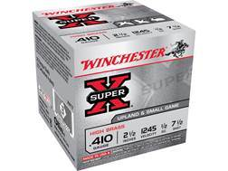 "Winchester Super-X High Brass Ammunition 410 Bore 2-1/2"" 1/2 oz #7-1/2 Shot"