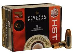 Federal Premium Personal Defense Micro Ammunition 9mm Luger 150 Grain HST Jacketed Hollow Point B...