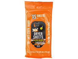 Dead Down Wind Scent Elimination Dryer Sheets Natural Woods Scent Pack of 15