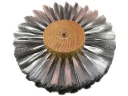 "Grobet 6"" Diameter 4 Row Brushing Wheel .003 Stainless Steel"