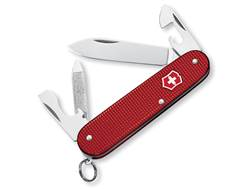Victorinox Swiss Army Cadet Folding Pocket Knife 9 Function Stainless Steel Blade Ribbed Alox Alu...