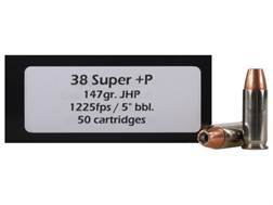 Doubletap Ammunition 38 Super +P 147 Grain  Jacketed Hollow