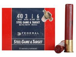 "Federal Game & Target Ammunition 410 Bore 3"" 3/8 oz #6 Non-Toxic Steel Shot Case of 250 (10 Boxes..."