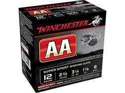 "Winchester AA Super Sport Sporting Clays Ammunition 12 Gauge 2-3/4"" 1-1/8 oz #8 Shot"