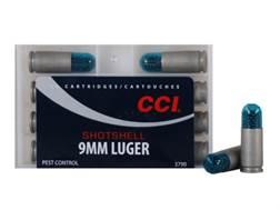 CCI Shotshell Ammunition 9mm Luger 53 Grains #12 Shot Box of 10