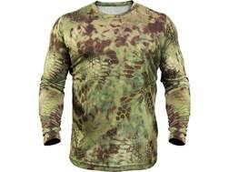 Kryptek Men's Hyperion T-Shirt Long Sleeve Polyester Mandrake Camo XL