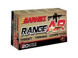 Barnes RangeAR Ammunition 300 AAC Blackout 90 Grain Open-Tip Match (OTM) Box of 20