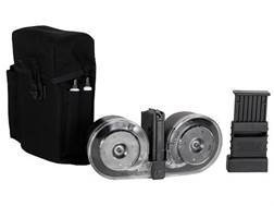 Beta Magazine System AR-15 223 Remington 100-Round Drum Polymer Black with Clear Back Cover