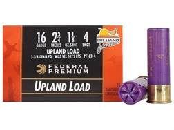 "Federal Premium Wing-Shok Ammunition 16 Gauge 2-3/4"" 1-1/8 oz Buffered #4 Copper Plated Shot Box ..."
