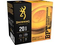 "Browning BPT Target Ammunition 20 Gauge 2-3/4"" 7/8 oz #7-1/2 Shot"