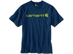 Carhartt Men's Signature Logo T-Shirt Short Sleeve Cotton Dark Cobalt Blue Heather 2XL