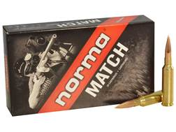 Norma USA Match Ammunition 6.5 Creedmoor 130 Grain Golden Target Hybrid Hollow Point Boat Tail Bo...
