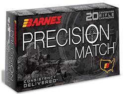 Barnes Precision Match Ammunition 6mm Creedmoor 115 Grain Open Tip Match Box of 20