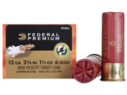 "Federal Premium Mag-Shok Turkey Ammunition 12 Gauge 2-3/4"" 1-1/2 oz #6 Copper Plated Shot High Ve..."