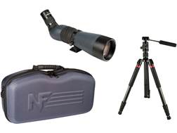 Nightforce TS-82 Xtreme Hi-Def Spotting Scope Kit 20-70x 82mm Gray with Carbon Fiber Tripod and A...