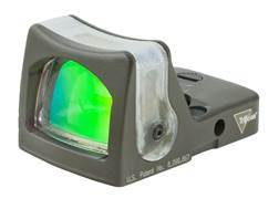 Trijicon RMR Reflex Red Dot Sight Dual-Illuminated 12.9 MOA Green Triangle Cerakote Olive Drab - ...