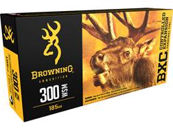 Browning BXC Controlled Expansion Ammunition 300 Winchester Short Magnum (WSM) 185 Grain Terminal...