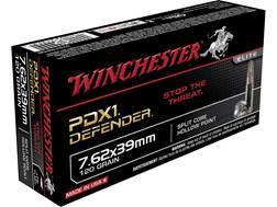 Winchester PDX1 Defender Ammunition 7.62x39mm 120 Grain Jacketed Hollow Point