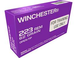 Winchester LE Training Ammunition 223 Remington 62 Grain Open Tip