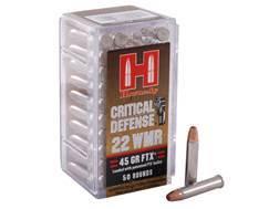Hornady Critical Defense Ammunition 22 Winchester Magnum Rimfire (WMR) 45 Grain Flex Tip eXpandin...