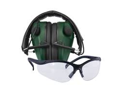 Caldwell E-MAX Low Profile Electronic Earmuffs (NRR 23dB) with Shooting Glasses