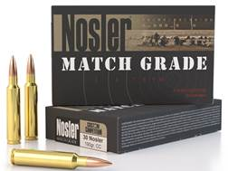 Nosler Match Grade Ammunition 30 Nosler 190 Grain Custom Competition Hollow Point Boat Tail Box o...