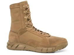 "Oakley Light 8"" Tactical Boots Leather and Synthetic Coyote Men's 10.5 D"
