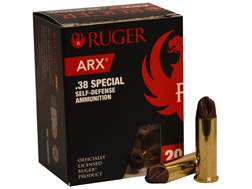 Ruger Self Defense Ammunition 38 Special 77 Grain Polycase ARX Lead-Free