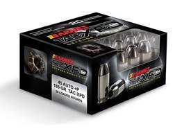 Barnes TAC-XPD Ammunition 45 ACP 185 Grain TAC-XP Hollow Point Lead-Free Box of 20