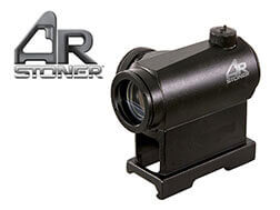 AR-Stoner Tactical Red Dot Sight 1x20mm 4 MOA Dot with Quick-Detachable Weaver/Picatinny-Style Mo...