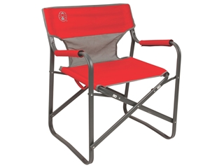 Coleman Outpost Breeze Deck Camp Chair Polyester Steel Red