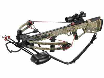 Velocity Archery Defiant Crossbow Package with 4x 32mm Illuminated Crossbow Scope Realt...