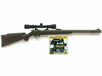 CVA Buckhorn Muzzleloading Rifle 50 Caliber Shooter Value Pack with Konus 3-9 x 32mm Sc...