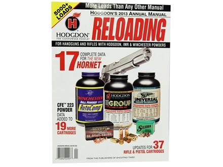 "Hodgdon ""2013 Annual Reloading Manual"" Reloading Manual"