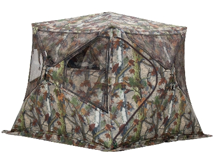 "Barronett Bell Bottom Flared Base Ground Blind 87"" x 87"" x 67"" Polyester Bloodtrail Camo"