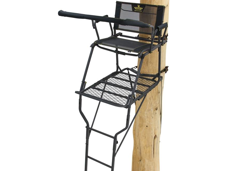 Rivers Edge SCYT Wide Single Ladder Treestand Steel Black