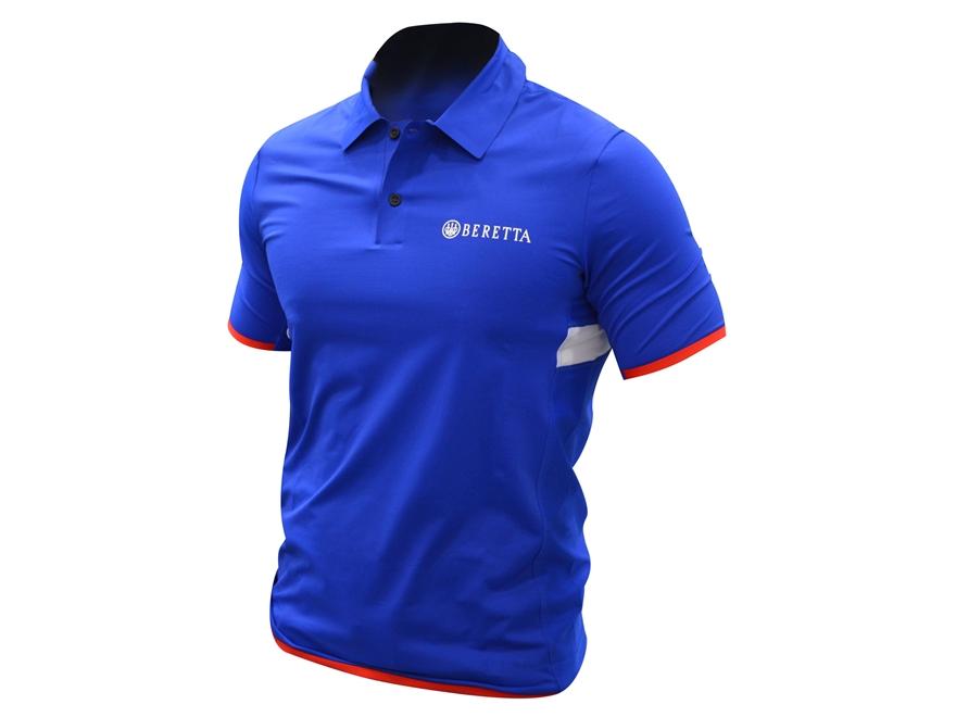 Beretta Men's Hi-Tech Performance Polo Shirt Short Sleeve Polyester Blend