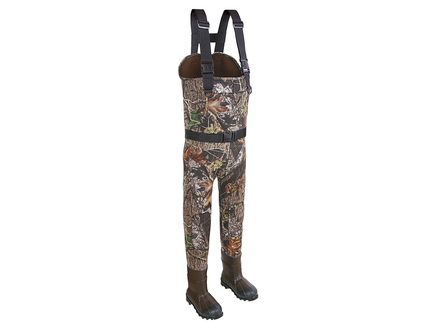 Allen Big Timber 600 Gram Insulated Chest Waders Neoprene and Rubber Mossy Oak Break-Up...