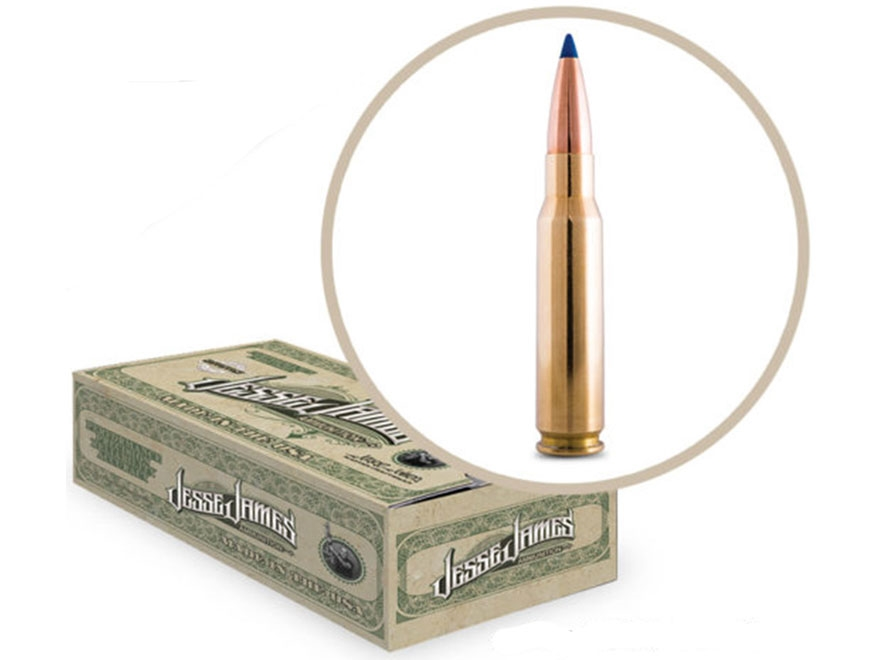 Jesse James TML Ammunition 308 Winchester 150 Grain Barnes TAC-TX Flat Base Lead-Free B...