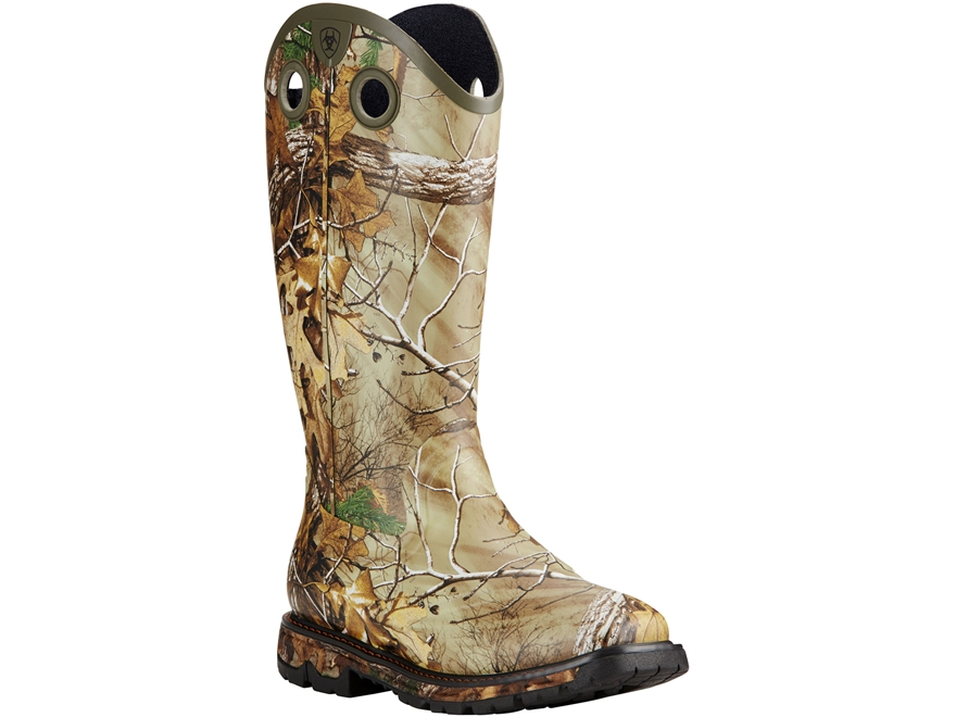 "Ariat Conquest Buckaroo 16"" Waterproof Uninsulated Hunting Boots Rubber Realtree Xtra C..."